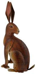 Metal Hare Decoration 39cm