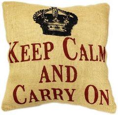 Keep Calm And Carry On Cushion