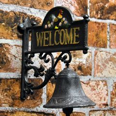 Welcome Wall Bell 22cm