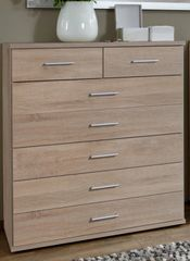 ORCHID 2 + 5 Drawers Large Chest Of Drawers Alpine White or Oak Effect