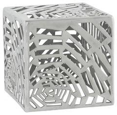 KOKOON Tribal Low Stool / Side Table Polished Aluminium