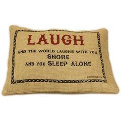 Laugh Jute Cushion