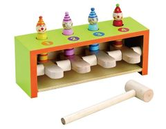 Traditional Wooden Educational Pop Up Hammer Game