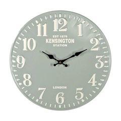 Green Metal Wall Clock 40cm
