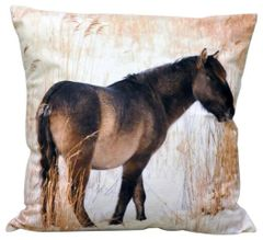 Snow Pony Cushion 45cm