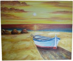 By The Sea 5 - 50cm x 60cm Real Art Painting, Oil on Canvas