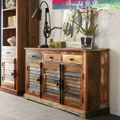 COASTAL Reclaimed Wooden Large Sideboard