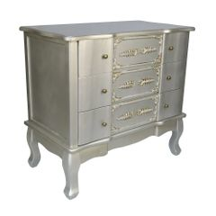 FRENCH Silver 3 Drawer Of Chest