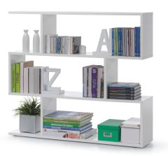 BREEZE Short Gloss White Bookcase
