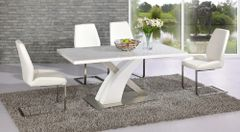Mayfair XO Table with 4 Mariya Chairs White