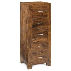 CUBE Tall Slim Chest 5 Drawers