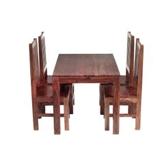 CUBE 4 Ft Dining Set With 4 Wooden Chairs