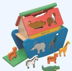Large Eduactional Wooden Noah's Ark Toy Shape Sorter