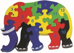 Wooden Elephant 12 Piece Jigsaw Puzzle