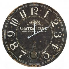 Wooden Distressed Wall Clock 55cm