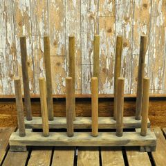 Handmade Wooden Welly & Boot Rack