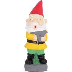 Novelty Garden Gnome with Machine Gun Ornament