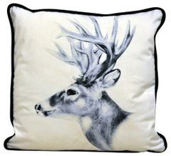 Stags Head Cushion 45cm