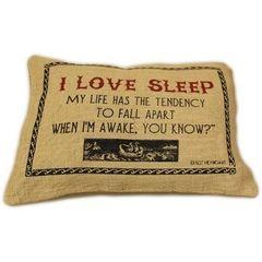 I Love Sleep Cushion