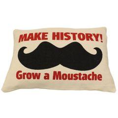 Make HISTORY Cotton Canvas Cushion