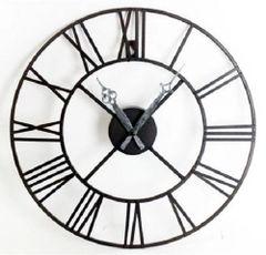 Metal Clock, Roman Numeral 40cm