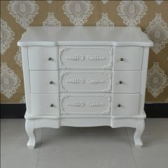FRENCH Antique Cream 3 Drawer Of Chest