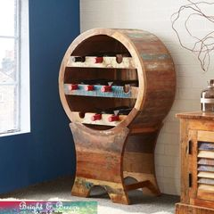 COASTAL Reclaimed Wooden Wine Cabinet