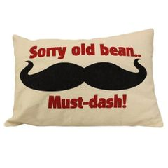 Sorry Old Bean Cotton Canvas Cushion