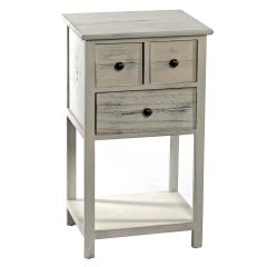 Shabby Chic 3 Drawer White Cabinet