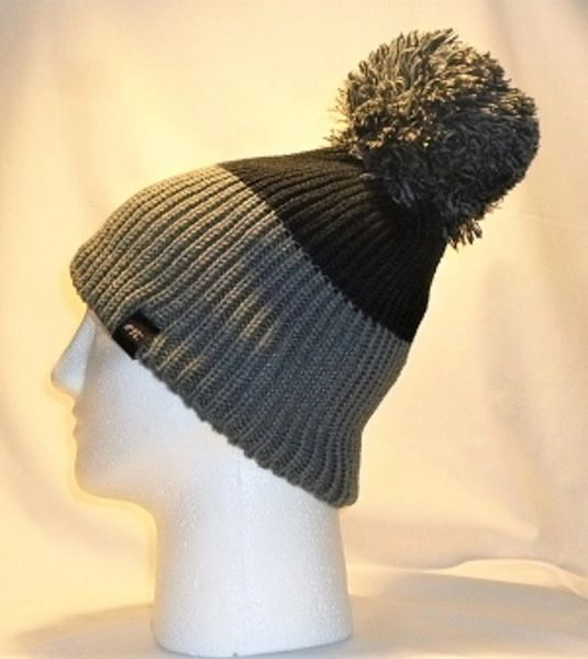 CumuloNimbus - Black And Grey Half And Half Bobble Hat  a9939cad1247