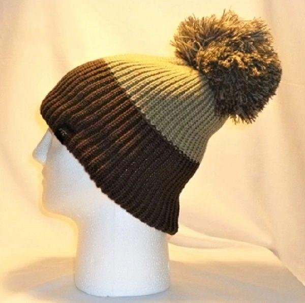 760322291bb Sandstorm - Khaki And Brown Bobble Hat