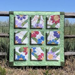 Fantasy Flowers, Laser Cut Applique Quilt Kit