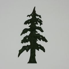 Lone Pine Tree, Laser cut and Pre-fused applique embellishment
