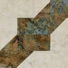 Square Dance Laser Cut Quilt Kit, Papyrus and Junea Dot Two Toned Laser Cut Quilt Kit