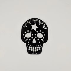 Sugar Skull, Laser cut black sugar skull