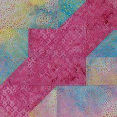 Square Dance Laser Cut Quilt Kit, Pink and Pastel Dot Laser Cut Quilt Kit
