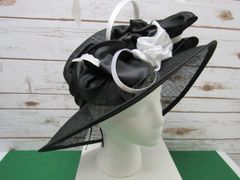 Black and White Dress Hat