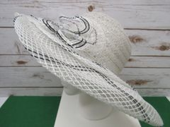 White & Black Straw Hat