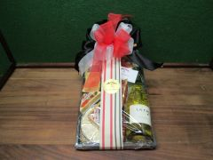 Gift Basket - Wine, Cheese and Meat