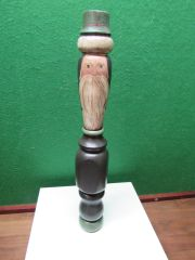 Hand Painted Wooden Post - Father Christmas