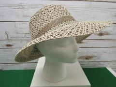 Tan and White Staw Hat