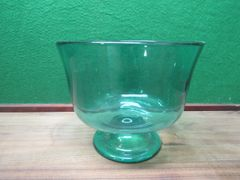 Blue Glass Compote Bowl