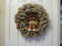 Wreath - Fall Scarecrow