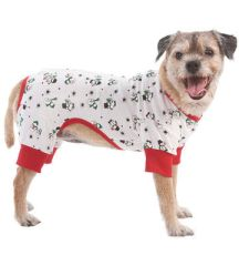 Doggie Holiday Pajamas, Snowmen or Candy Cane