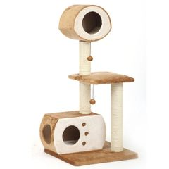 Multi-Level Fleece Cat House
