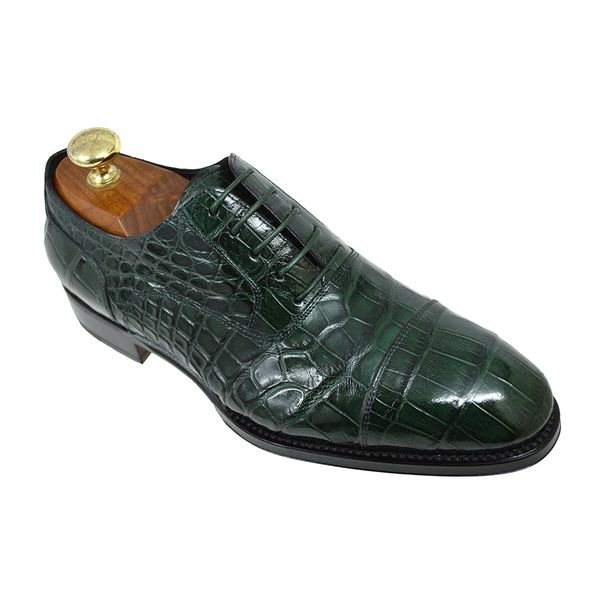 dc98e8d54ac Caporicci 1102 Green Baby Alligator Shoes