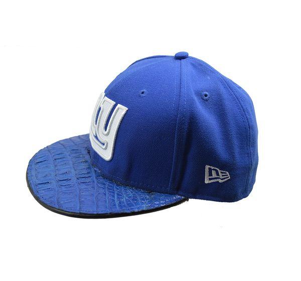 Custom New York Giants Crocodile Visor Hat Cellini Uomo