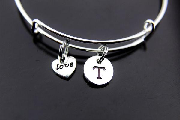 Silver Love Heart Charm Bracelet