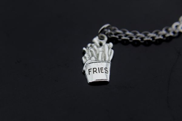 French Fries Charm Necklace