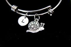 Silver Snail Charm Bracelet, B117
